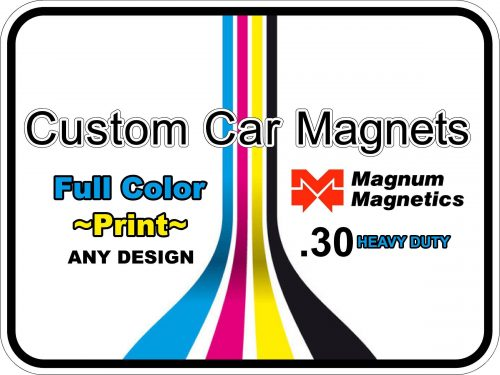 Custom Car Magnet Display Photo