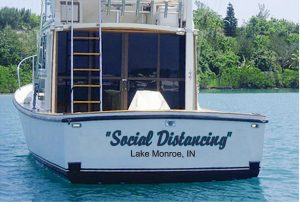 Boat hull decals