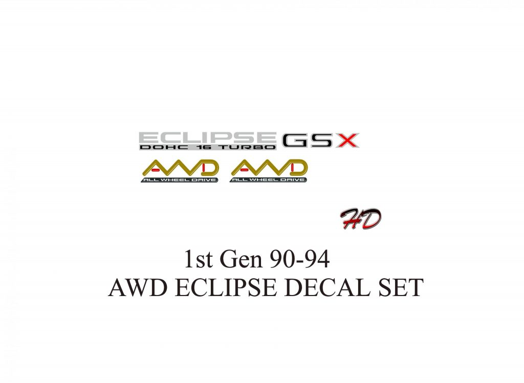 90-94-1st Gen Eclipse Decals