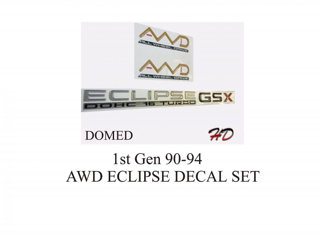90-94 Domed Eclipse GSX Decal Set