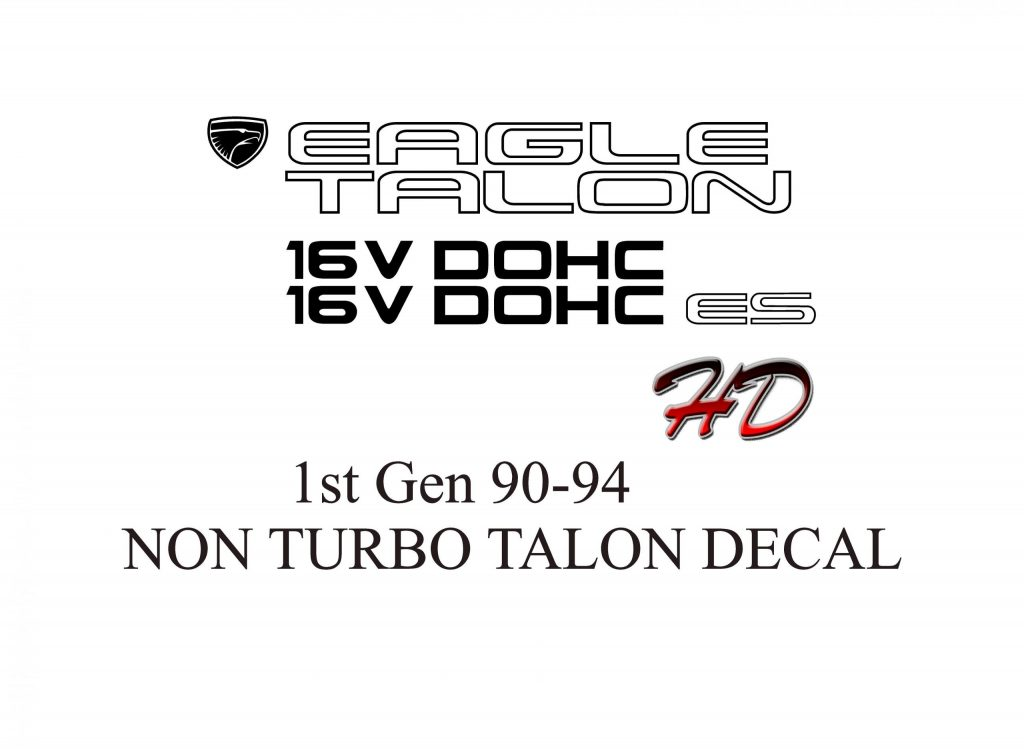 1G Eagle Talon ES decals