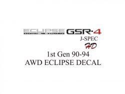 Mistubishi Eclipse GSR-4 DECAL