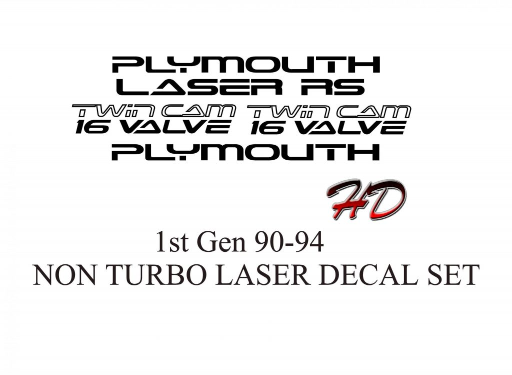 Plymouth Laser Non Turbo Decals